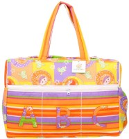 Ole Baby Big Multi-Utility Amazing Abstract Fabric Diaper Bag (Orange) - DBGEDZZYG686EPXA