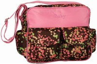 Ollington St. Collection With Floral Print Diaper Bag (Pink, Brown)