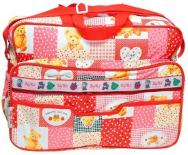 Baby`S World Big Size Red Colored Baby Bag Baby Care Diaper Bag