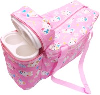 Ole Baby Premium Multi Purpose Bunny Bear Print With Warmer Tote Diaper Bag (Pink)