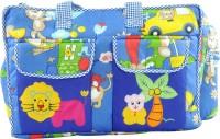 Ole Baby Multi Utility Jumbo Embroidery Picnic Fun Print Tote Diaper Bag (Multicolor)