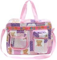 Bazaar Pirates Teddy Bear Print Mother's Diaper Cum Utility Bag (Purple) - DBGEJ4VSS8FYHUMJ