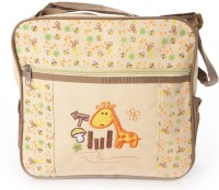 Baby Bucket Square Multiutility Cute Embroidered Diaper Bag Diaper Bag (Beige)