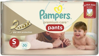 Pampers Premium Care Pants Small Size - 50pcs (4 - 8 Kgs) - Small (50 Pieces)