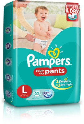 Pampers Pants Diaper Large Size (52 Pieces)