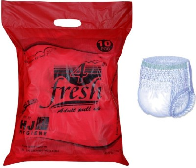 4Fresh Adult Pull Up DIapers Pant Style - Extra Large (10 Pieces)