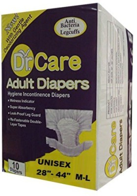 Dr care Hygiene Incontinence Unisex Adult Diapers with Anti Bacteria + Legcuffs M-L (28