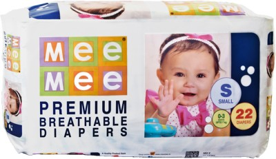 Mee Mee Premium Breathable Diapers - Small (22 Pieces)