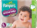 Pampers Active Baby Diapers Taped L Size (Large) 78 Pads - 78 Pieces