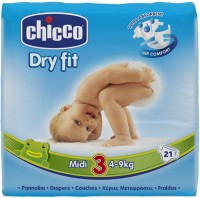 Chicco DRY DIAPERS CHICCO NAPPIES MIDI 21X10 - Midi (21 Pieces)