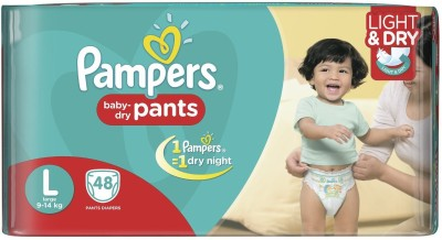 PAMPERS DIAPERS - Large (48 Pieces)