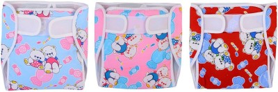 CHHOTE JANAB BABY CLOTH DIAPER WITH EXTRA PAD - MEDIUM (3 Pieces)
