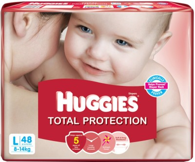 Huggies Total Protection Large Size Diapers