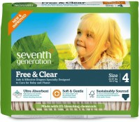 Seventh Generation Free And Clear Original Unprinted, Size 4 - Large (135 Pieces)