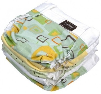 Kushies Classic Diaper 5 Pack Print - New Born