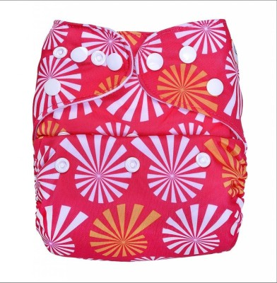 Bumberry Pocket Diaper-Wflower on Pink - One - Size (1 Pieces)