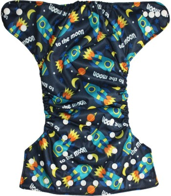 Soft Baby Reusable Adjustable Cloth Diaper - Free Size (1 Pieces)