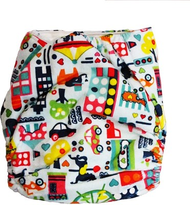 TheTickleToe Cloth Diaper with Snaps - City - Free Size (1 Pieces)