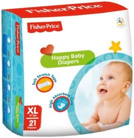 FisherPrice Happy Baby Diapers - XL - (12 Kgs)