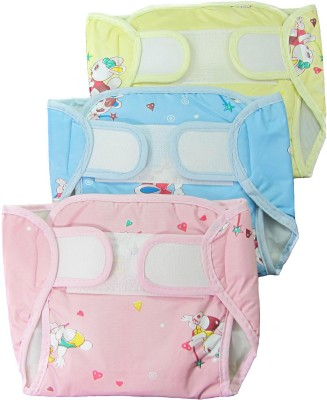 Eio EIO Baby Infant Washable Reusable Pocket Nappy Diaper Covers with Inserts (Pack of 3) - Regualr (3 Pieces)