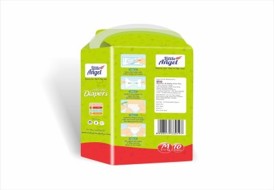 LITTLE ANGEL Extra Dry Diapers combo of 3 - Medium 5 to 11 kg (10 Pieces)