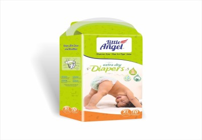 LITTLE ANGEL Extra Dry Diapers combo of 3 - XL (10 Pieces)