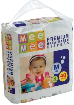 Mee Mee Premium Breathable Diapers - Medium (40 Pieces)