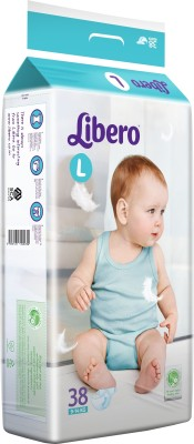 Libero Open Diapers - Large (38 Pieces)