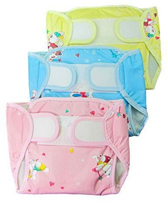 EIO Adjustable Reusable Washable Baby Cloth Diaper Napp With Insert - Medium (3 Pieces)