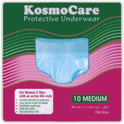KosmoCare Disposable Protective Underwear-Size 34 To 46 Inches - Medium (10 Pieces)