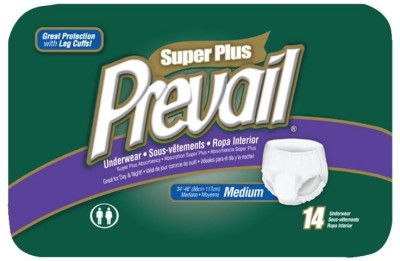 Prevail Super Plus Disposable Underwear-Size 34 To 46 Inches - Medium (14 Pieces)