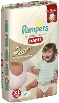 Pampers Premium Care Pants Extra Large - 46pcs (12 Kgs Plus) - Free Size (46 Pieces)