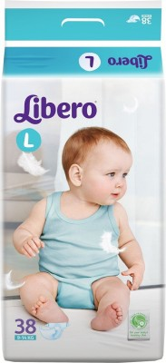 Khareedi Libro Open Diapers Large Size for 9-14 Kg babies - Large (38 Pieces)