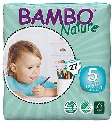 Bambo Nature Premium Baby Diapers - Medium (27 Pieces)