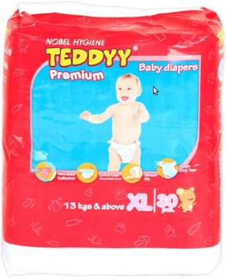 Teddyy Premium Baby Diapers - Extra Large (30 Pieces)