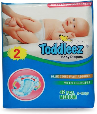 Toddleez Baby Diaper - Medium (42 Pieces)
