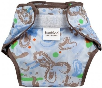 Kushies Taffeta Waterproof Diaper Wrap Milky Blue - New Born