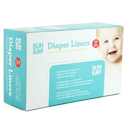 Bumkins Flushable Diaper Liner - Neutral - Medium (100 Pieces)