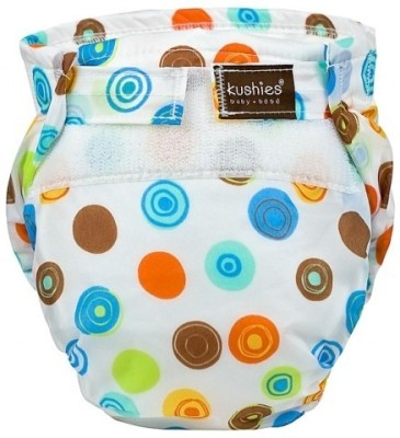 Kushies Ultra-Lite Diaper White Crazy Circles - New Born