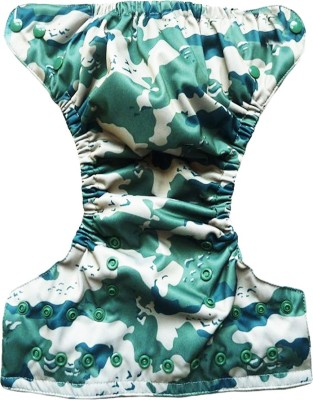 Soft Baby Reusable Green Army Pattern - Medium (1 Pieces)