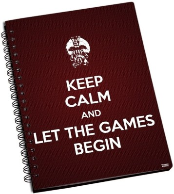 Games Shoprock Let The Games Begin A5 Notebook Ring Bound (Brown)