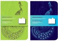 Karunavan Peacock (Set of 2) Notebook Soft Bound: Diary Notebook