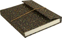 Lal Haveli Regular Diary (Handmade Paper Silk Cover Office Diary Notebook Journal Book With Pen, Green) - DIAEM4R5ZGGUW72F