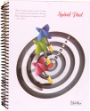 Gathbandhan Pad With Colorful Pages A4 Notebook Spiral Bound - White, Black