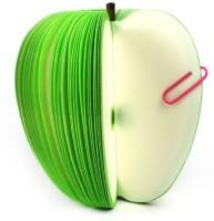Tootpado Apple Fruit Shape Memo Pad Notepad (Set Of 2) Regular Note Pad Adhesive Bound (Green, Pack Of 2)