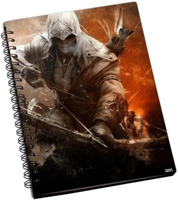 Bluegape Assassins Creed A6 Notebook Spiral Bound Multicolor