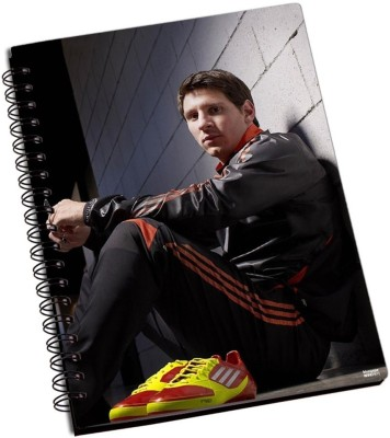 Adidas Shoprock Messi Adidas A5 Notebook Ring Bound (Black)