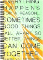 Art Emporio Everything Happens For A Reason A5 Notebook Spiral - Multicolor