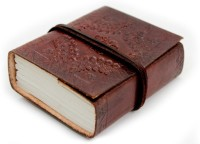 Lokalart Designer Leather Diary Writing Book Gift For Him 4.2 X 3.2 Inches Pocket-size Journal Hand Sewn (Brown)