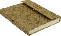 Lal Haveli Regular Diary (Handmade Paper Silk Cover Office Diary Notebook Journal Book With Pen, Beige)
